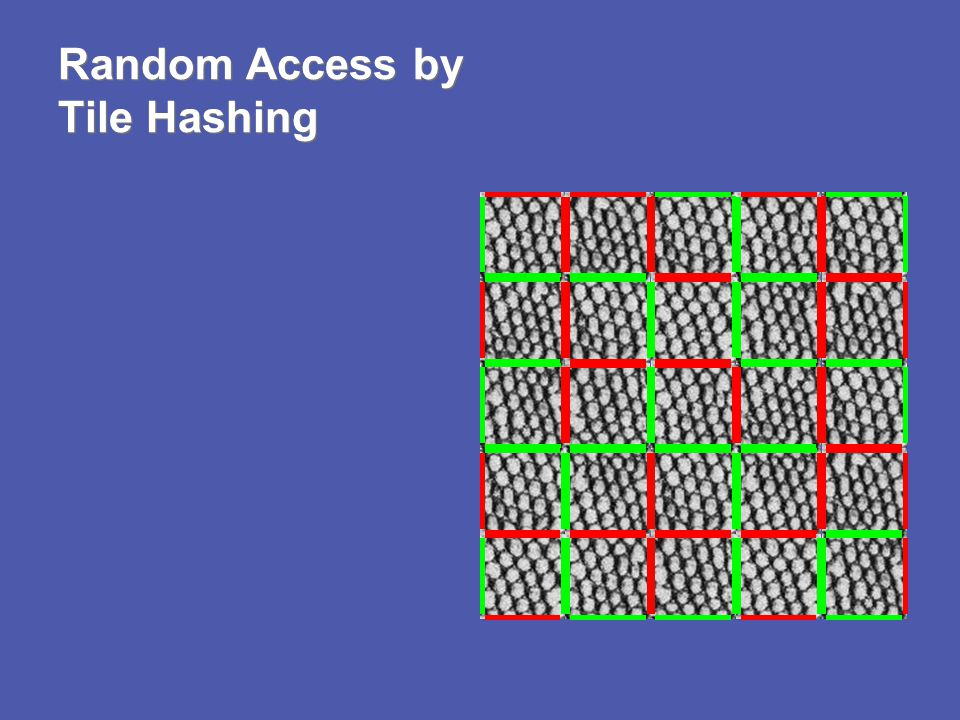 Random Access by Tile Hashing