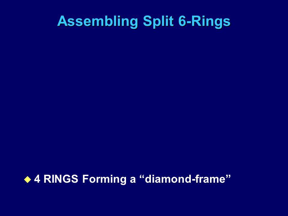 Assembling Split 6-Rings u 4 RINGS Forming a diamond-frame