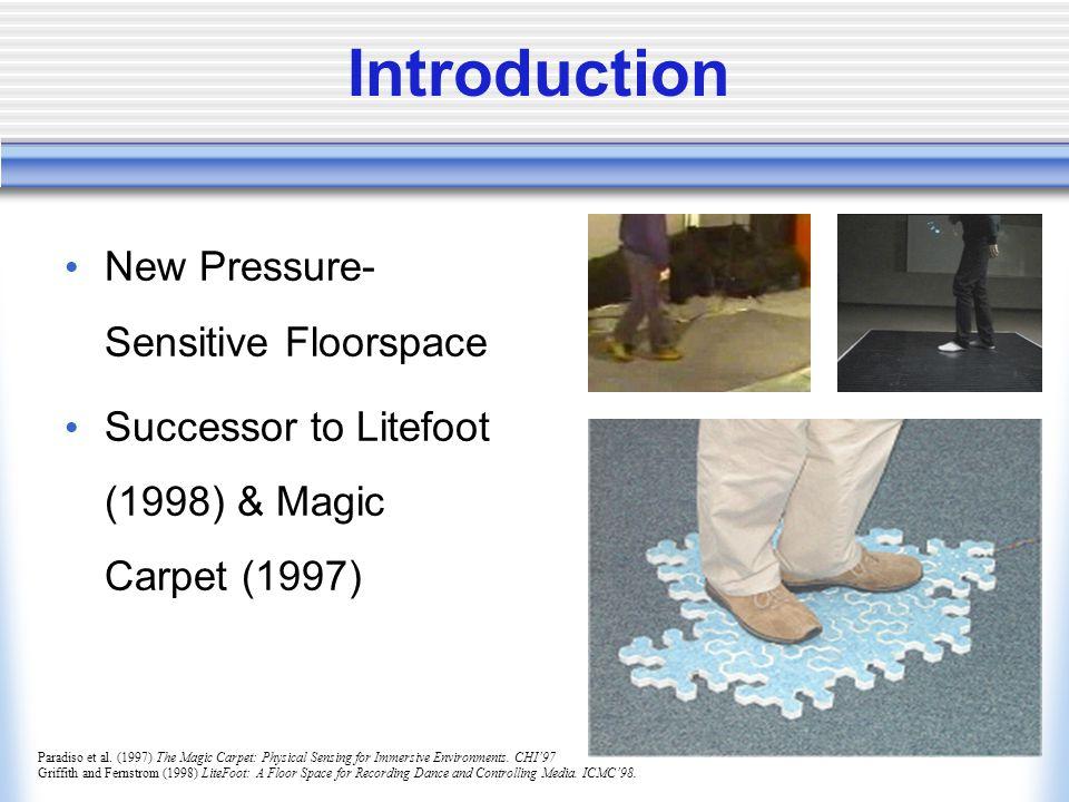 Introduction New Pressure- Sensitive Floorspace Successor to Litefoot (1998) & Magic Carpet (1997) Paradiso et al.
