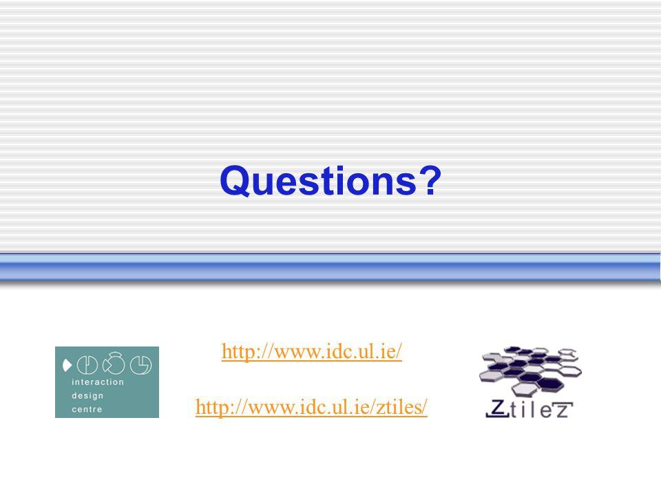 Questions http://www.idc.ul.ie/ http://www.idc.ul.ie/ztiles/