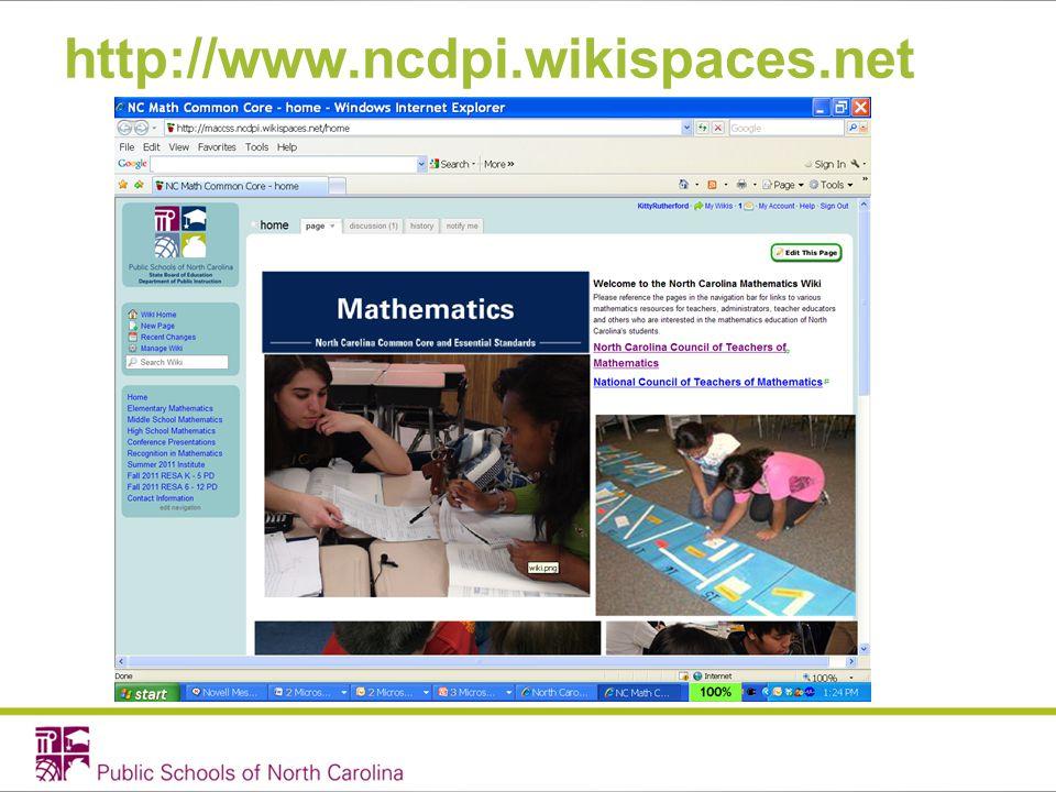http://www.ncdpi.wikispaces.net