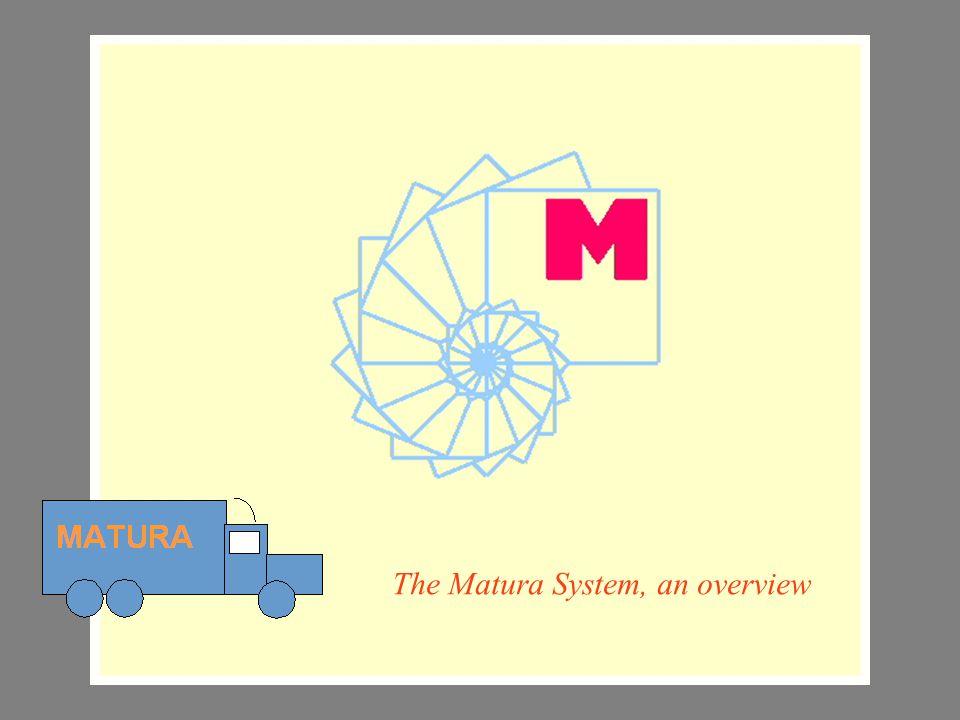 Matura Slide series The Matura System, an overview