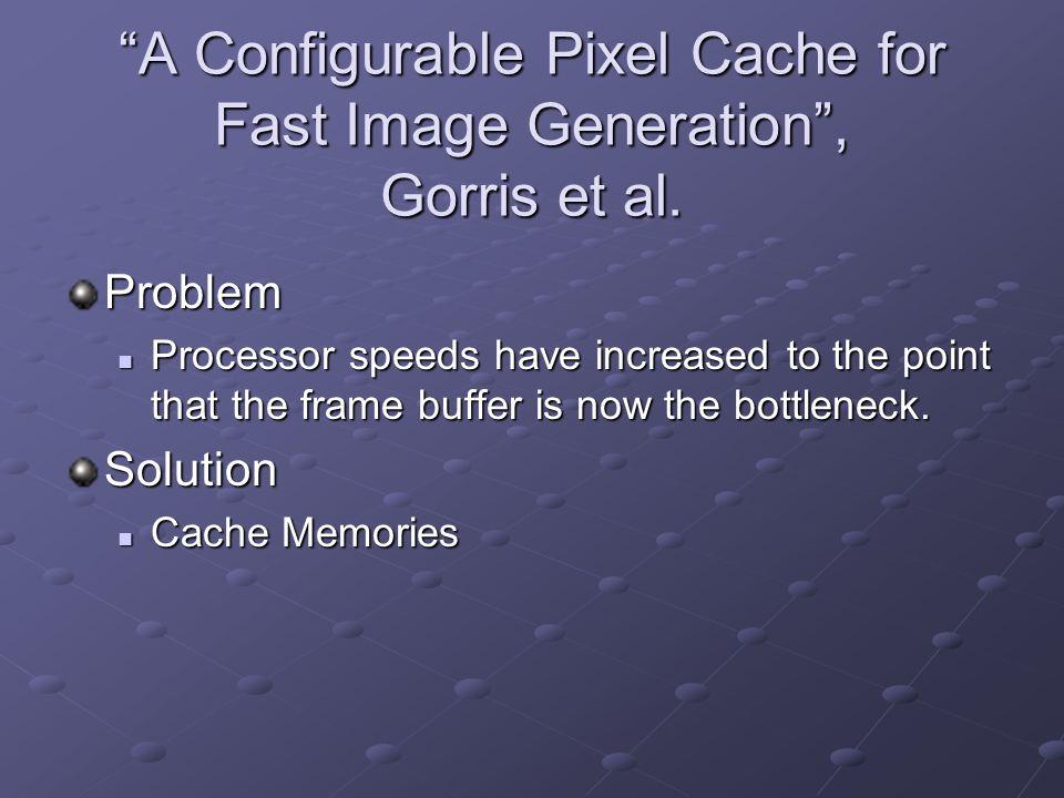 A Configurable Pixel Cache for Fast Image Generation, Gorris et al.