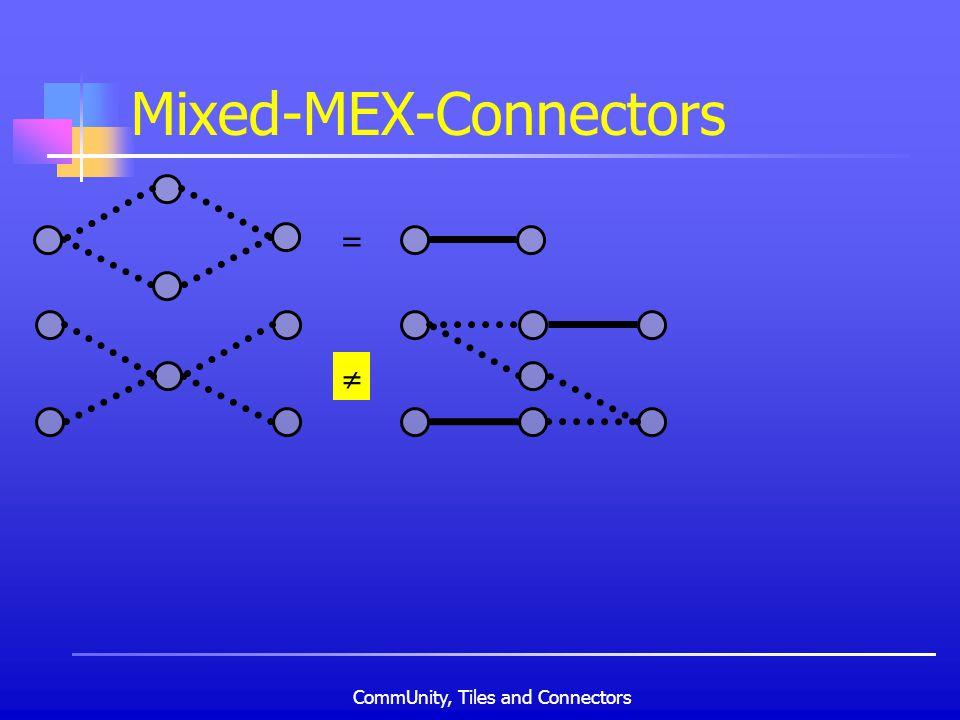 CommUnity, Tiles and Connectors Mixed-MEX-Connectors =