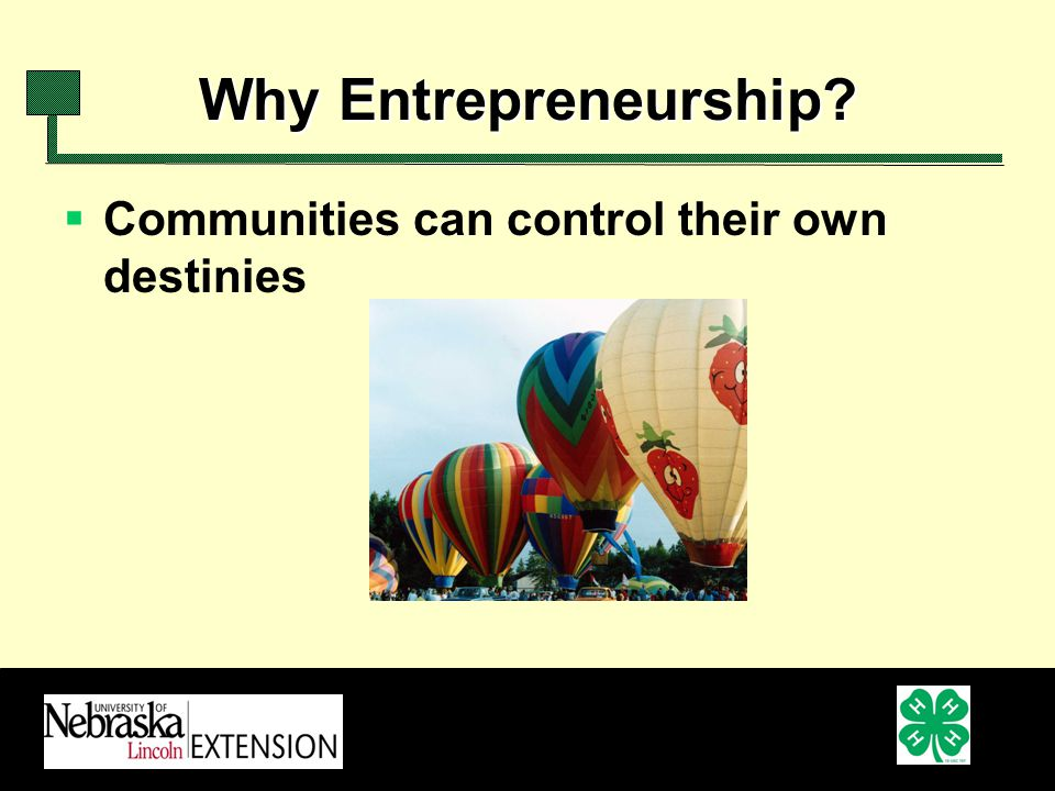 Why Entrepreneurship Communities can control their own destinies