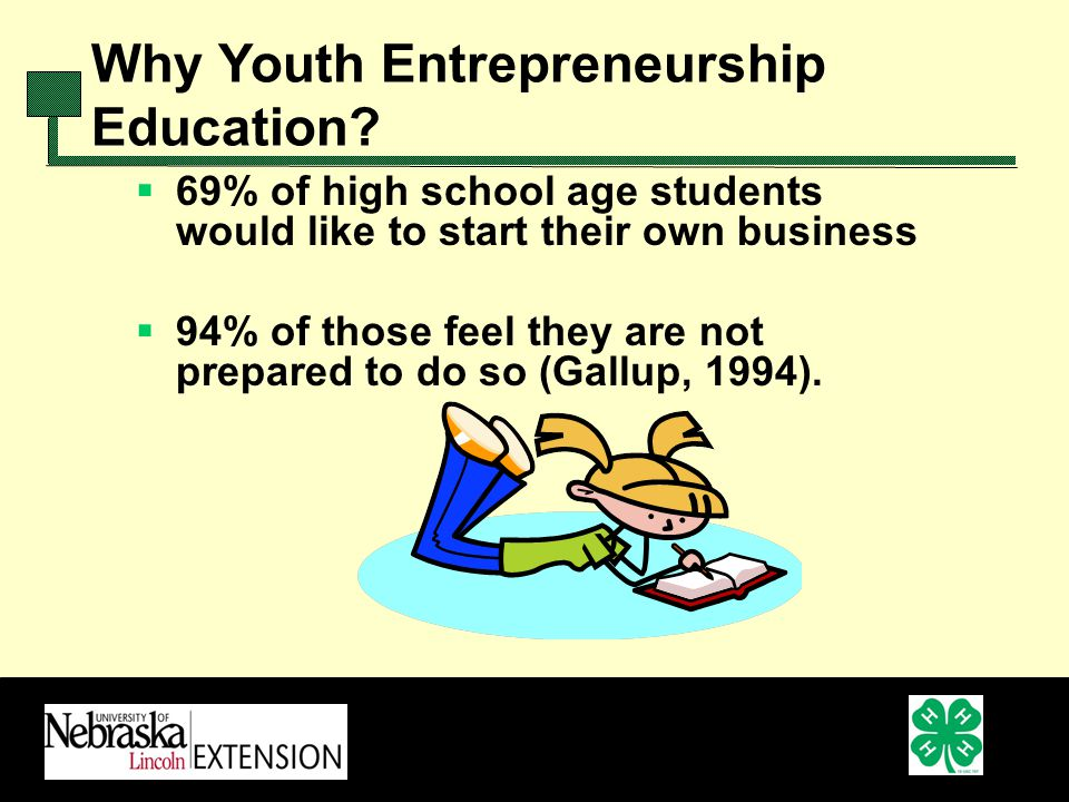 Why Youth Entrepreneurship Education.