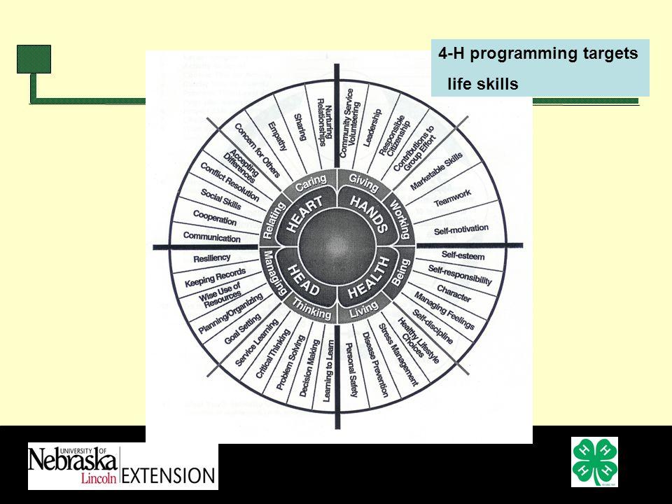 4-H programming targets life skills