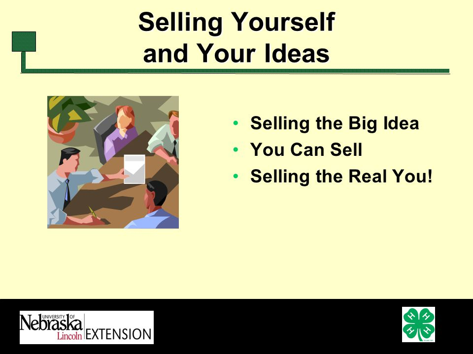 Selling Yourself and Your Ideas Selling the Big Idea You Can Sell Selling the Real You!