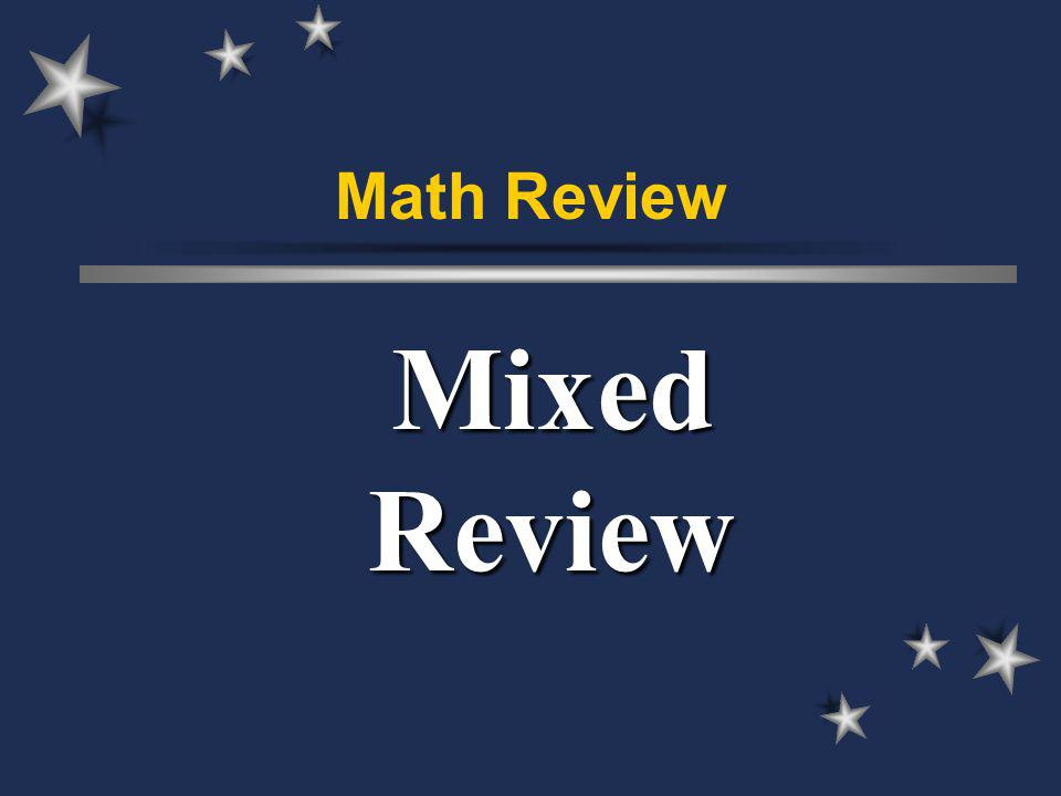 Math Review Mixed Review