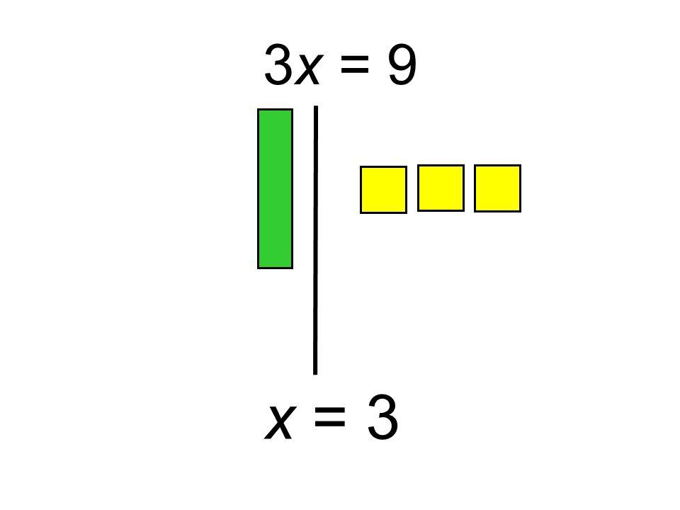 x = 3