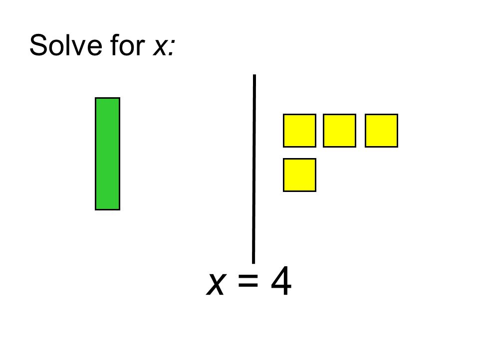 Solve for x: x = 4