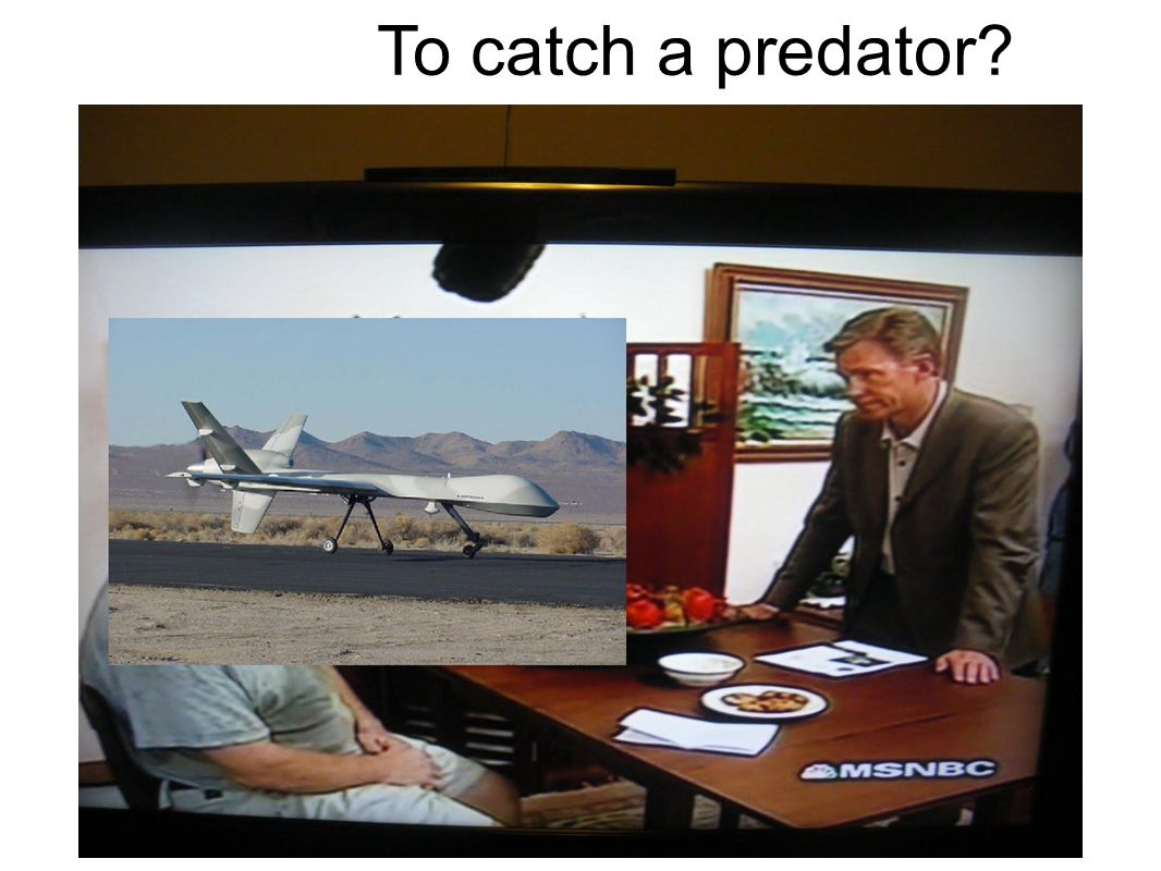 To catch a predator?
