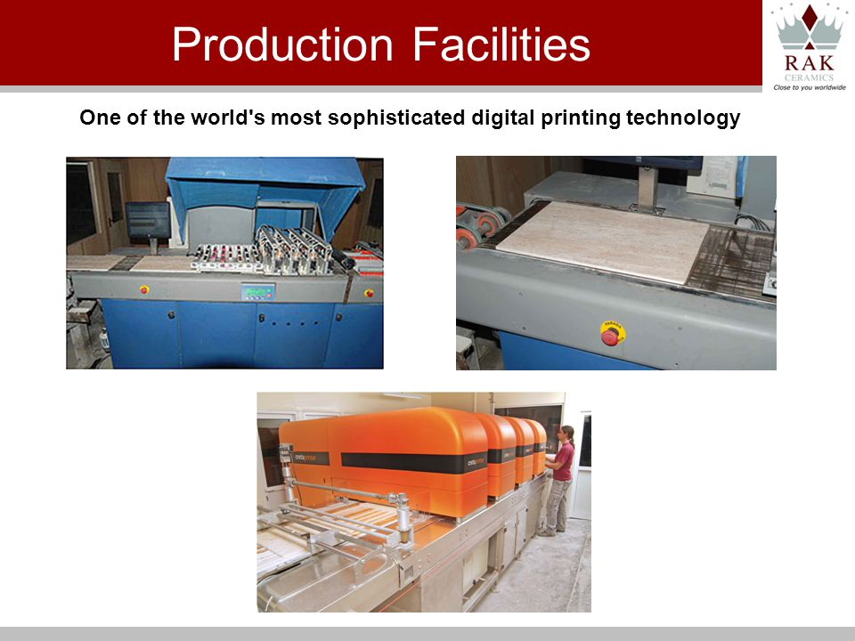One of the world s most sophisticated digital printing technology Production Facilities