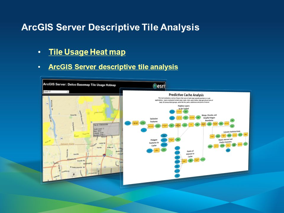 ArcGIS Server Descriptive Tile Analysis Tile Usage Heat map ArcGIS Server descriptive tile analysis