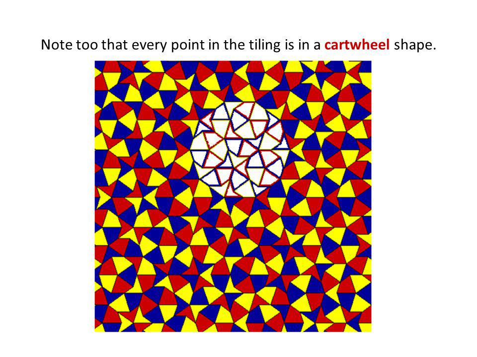 Note too that every point in the tiling is in a cartwheel shape.