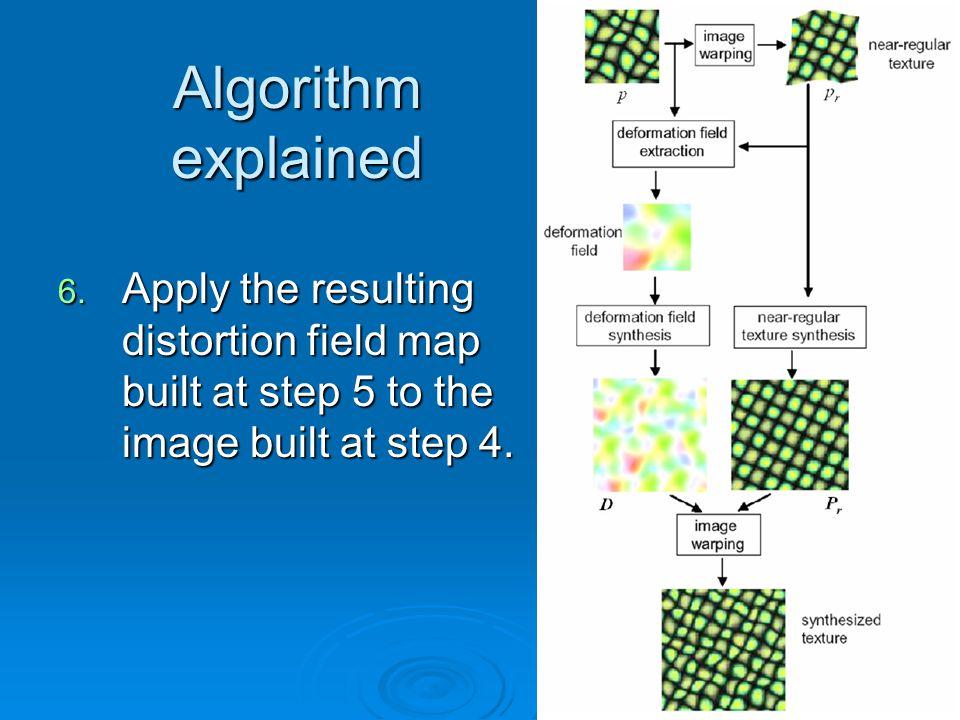 Algorithm explained 6.