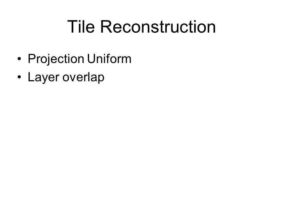 Tile Reconstruction Projection Uniform Layer overlap