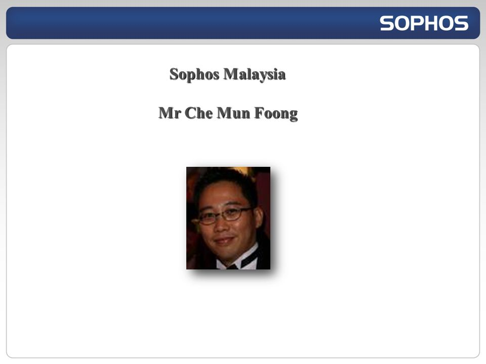 Sophos Malaysia Mr Che Mun Foong