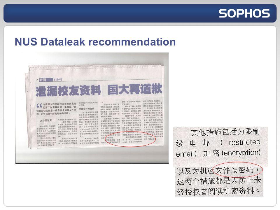 NUS Dataleak recommendation