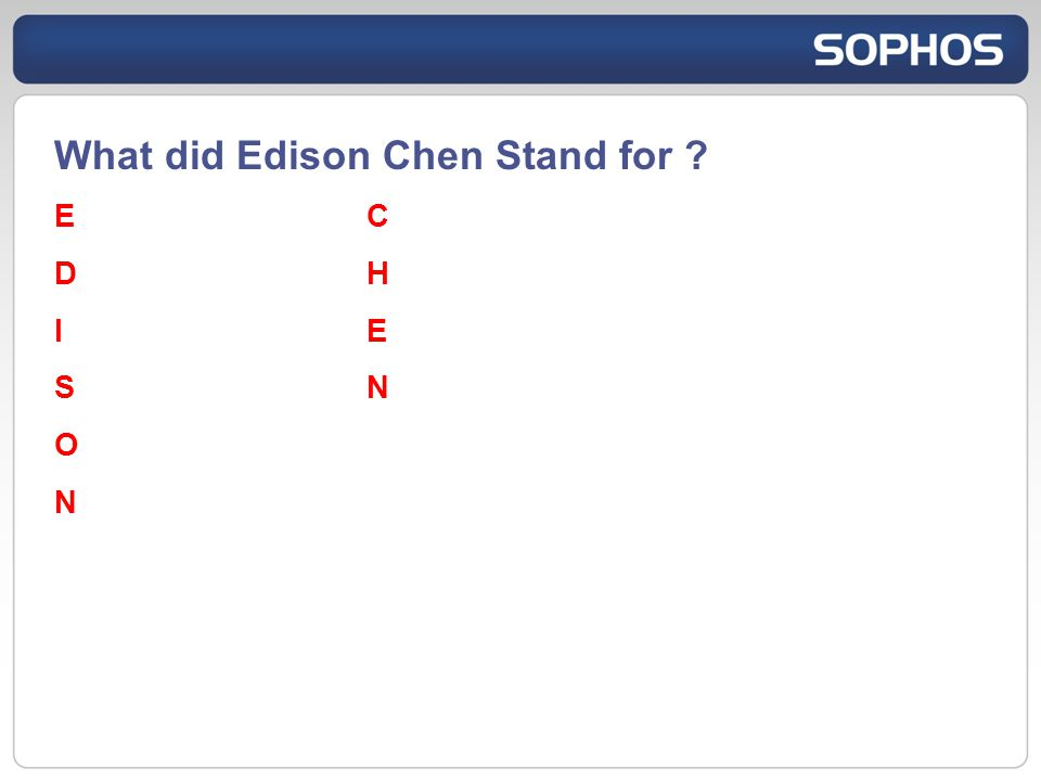 What did Edison Chen Stand for ECDHIESNONECDHIESNON