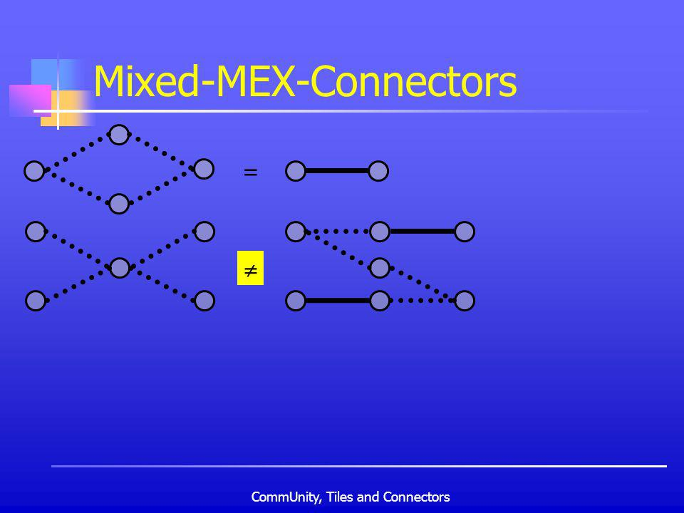CommUnity, Tiles and Connectors Mixed-MEX-Connectors =