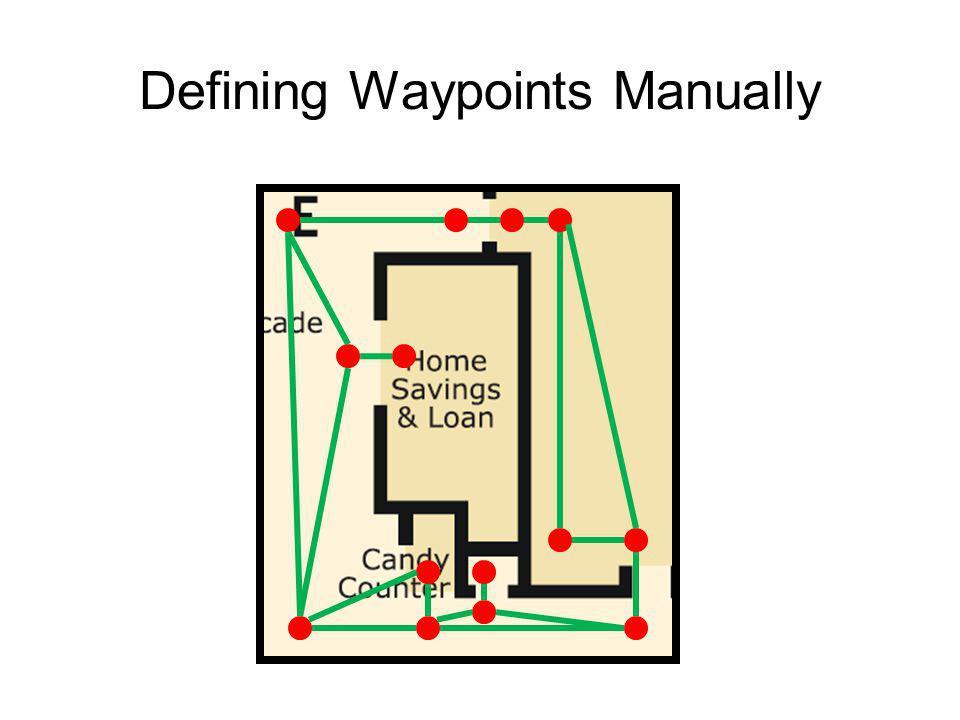 Defining Waypoints Manually