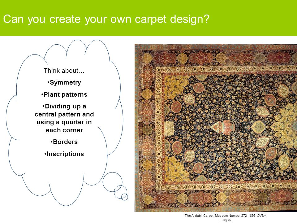 Can you create your own carpet design.