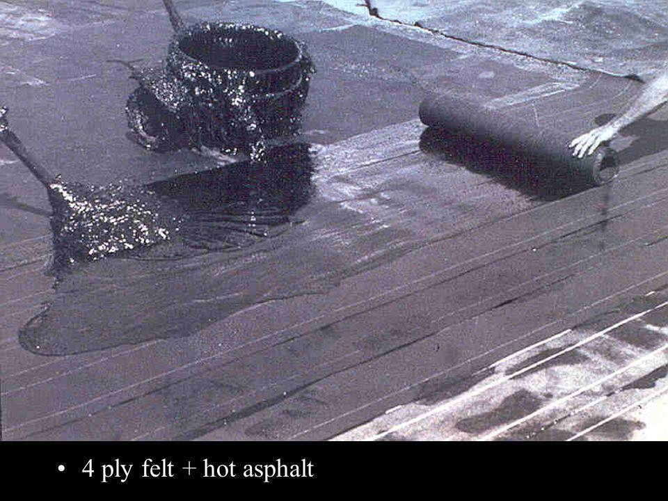 4 ply felt + hot asphalt