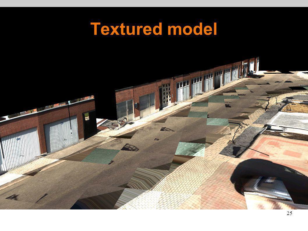 25 Textured model