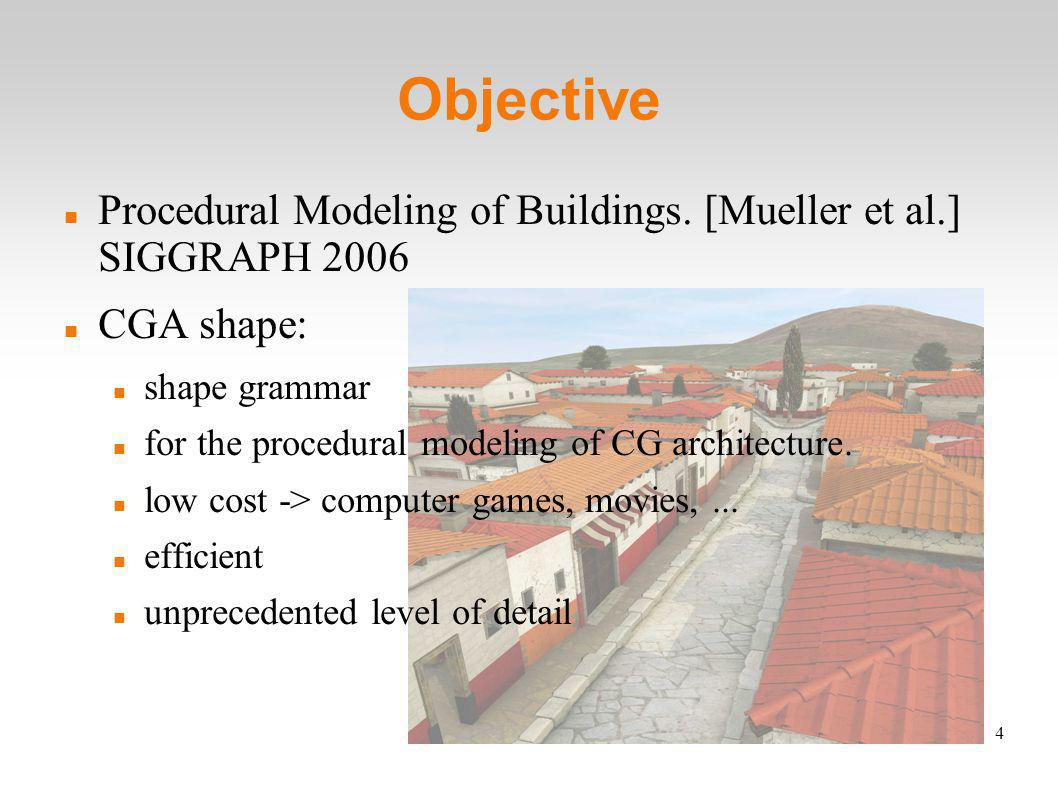 4 Objective Procedural Modeling of Buildings.