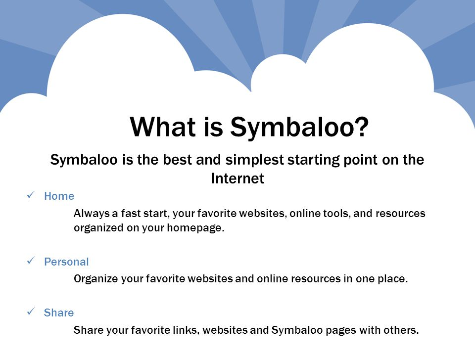 What is Symbaloo.