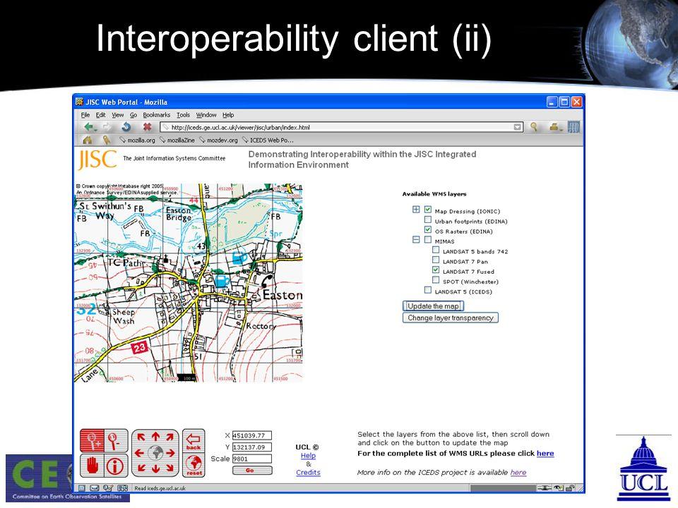 Interoperability client (ii)
