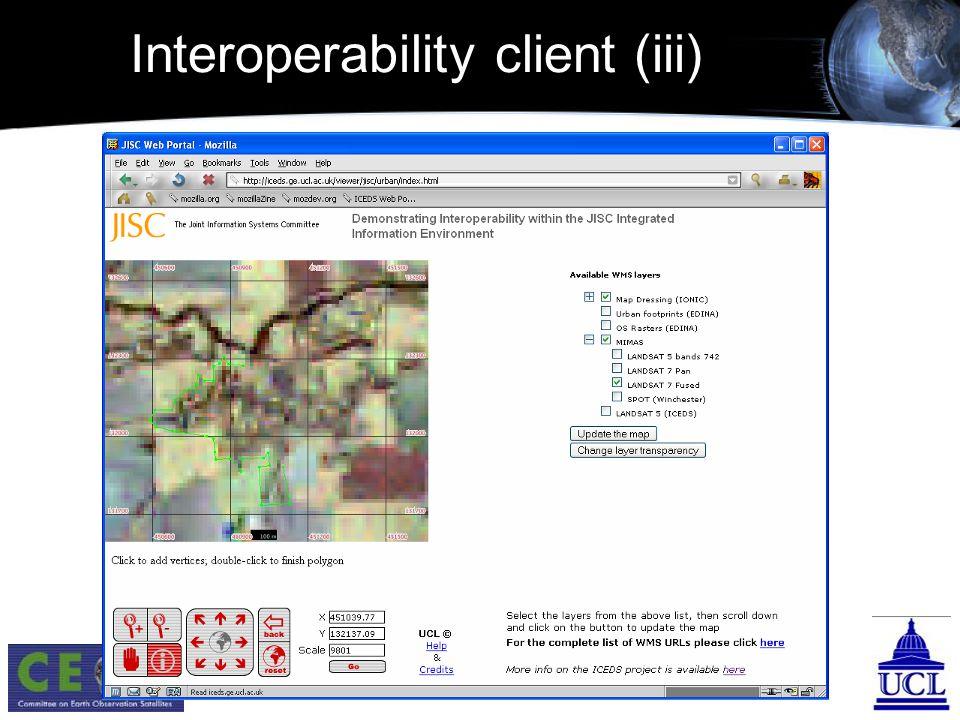 Interoperability client (iii)
