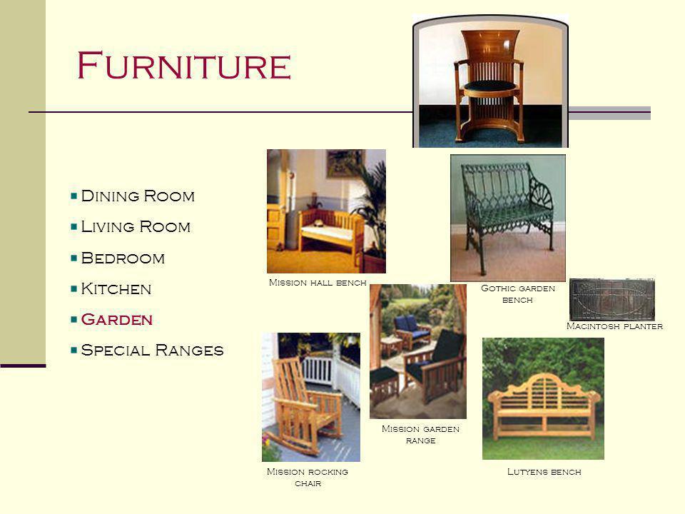 Furniture Dining Room Living Room Bedroom Kitchen Garden Special Ranges Mission range Cotswold range Mouseman range