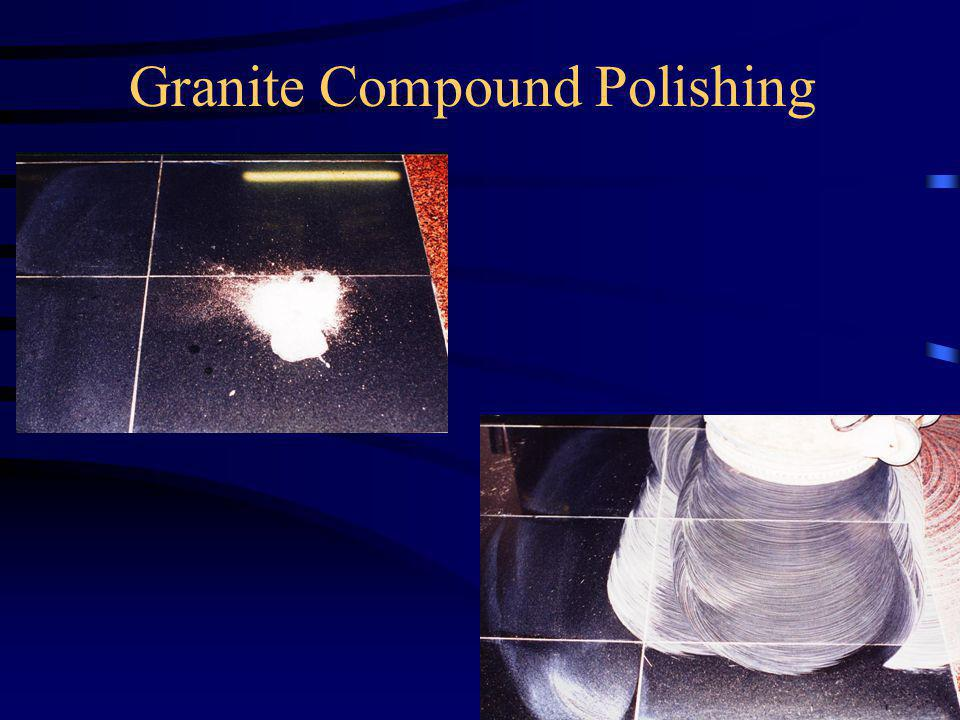 Diamond grinding is the most efficient way Specialized granite polishing compound & paste can be used to maintain traffic areas