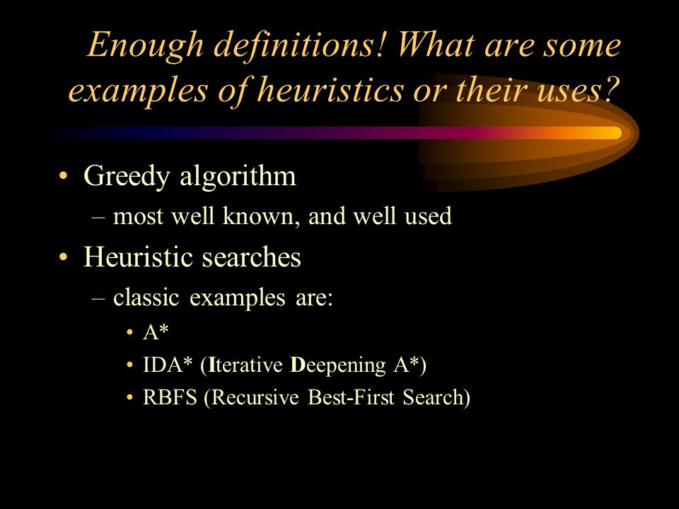 The Greedy Algorithm Simply pick the best thing to do.