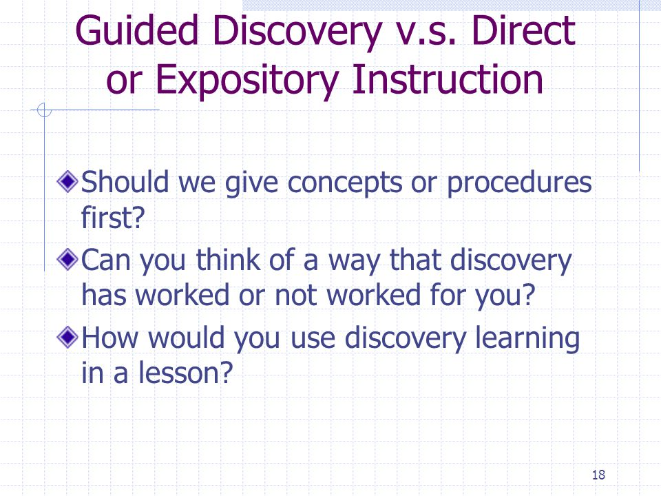 18 Guided Discovery v.s.