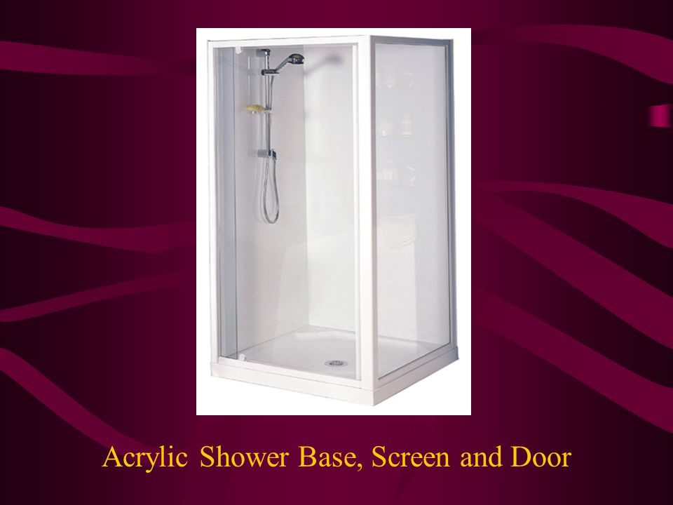 Acrylic Shower Base, Screen and Door