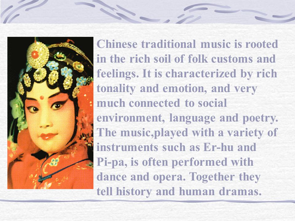 In contrast, Chinese folk dance originated in the villages.