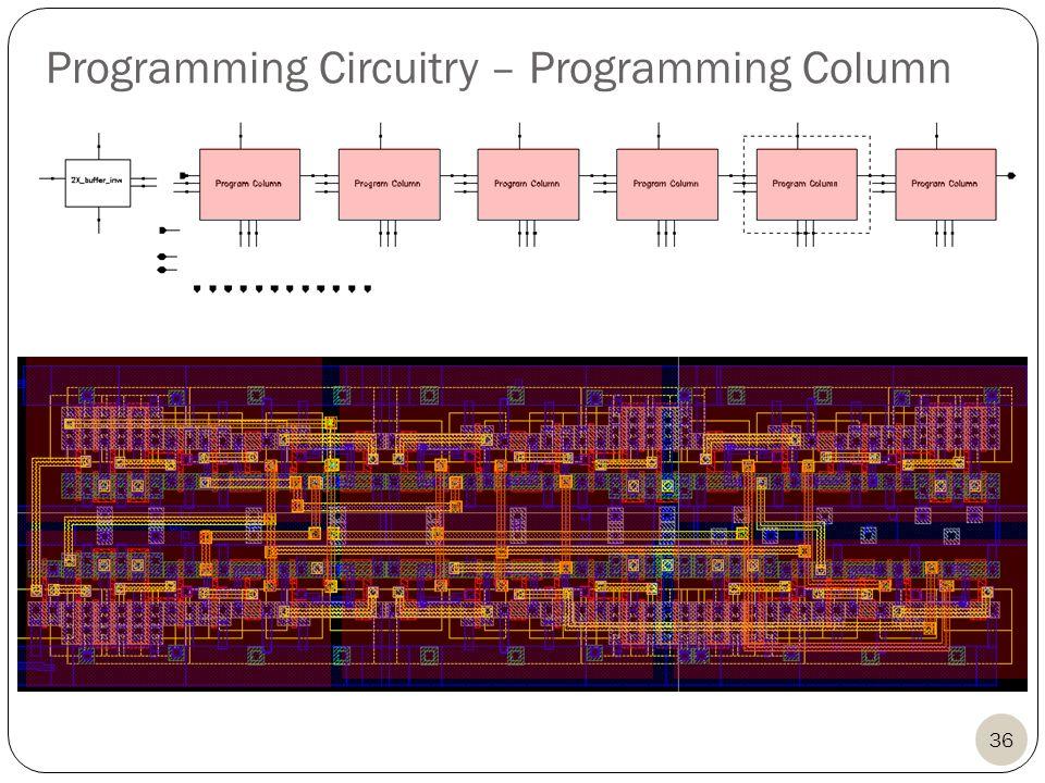 36 Programming Circuitry – Programming Column
