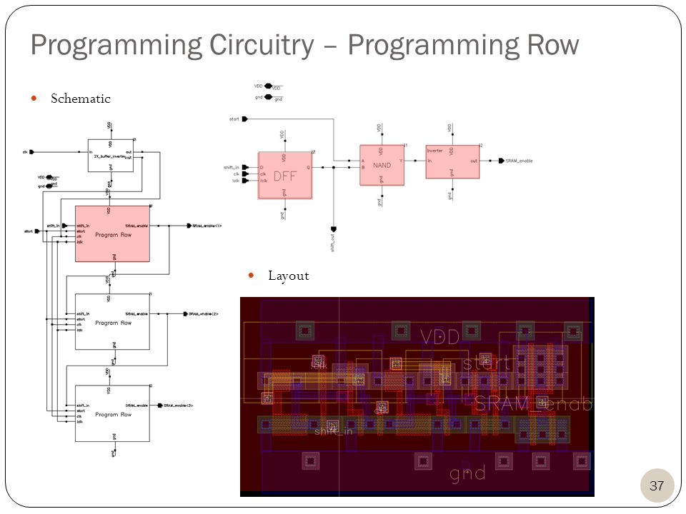37 Programming Circuitry – Programming Row Layout Schematic