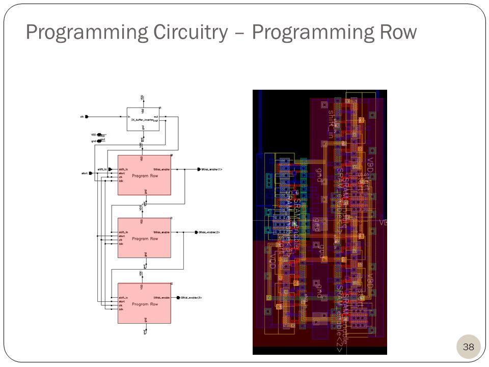 38 Programming Circuitry – Programming Row
