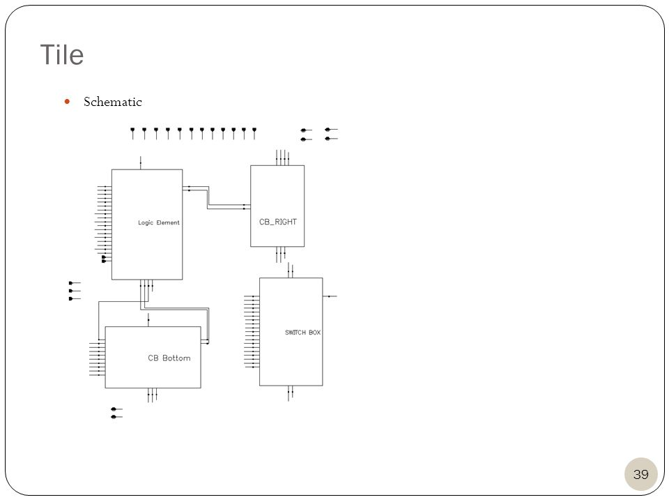 Tile 39 Schematic