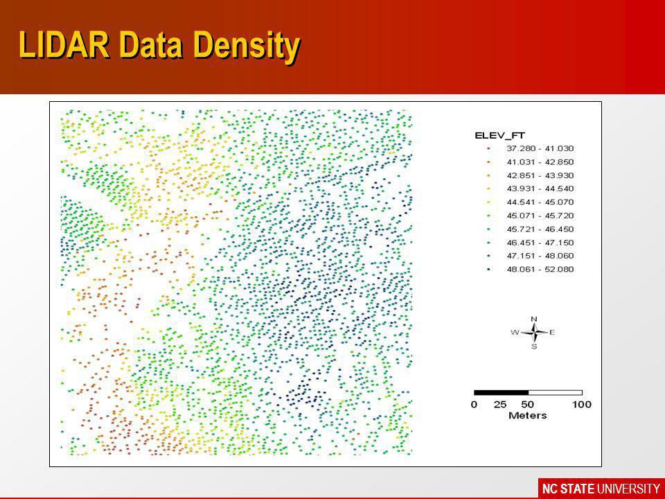 NC STATE UNIVERSITY LIDAR Data Density