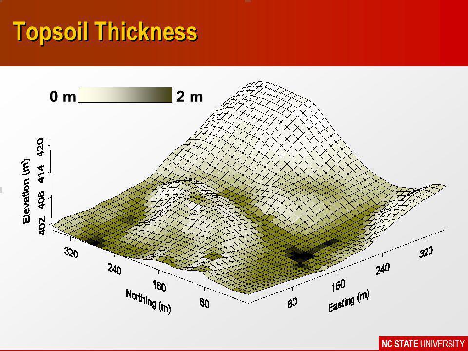 NC STATE UNIVERSITY Topsoil Thickness 0 m2 m