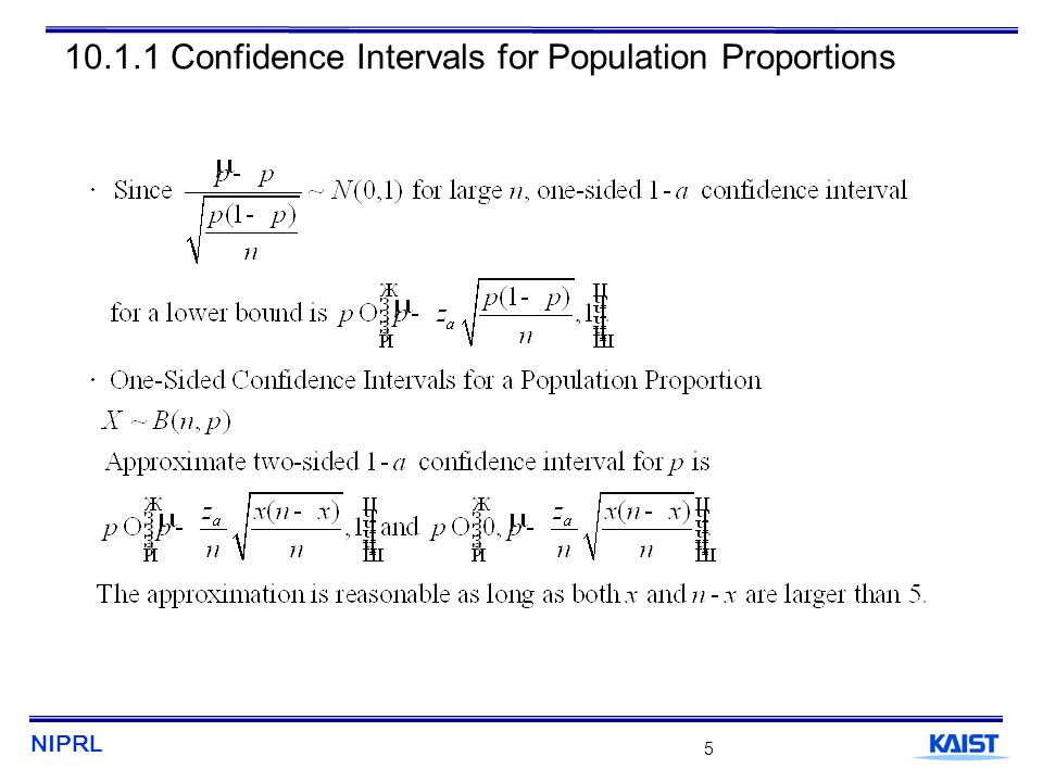 NIPRL 6 10.1.2 Hypothesis Tests on a Population Proportion