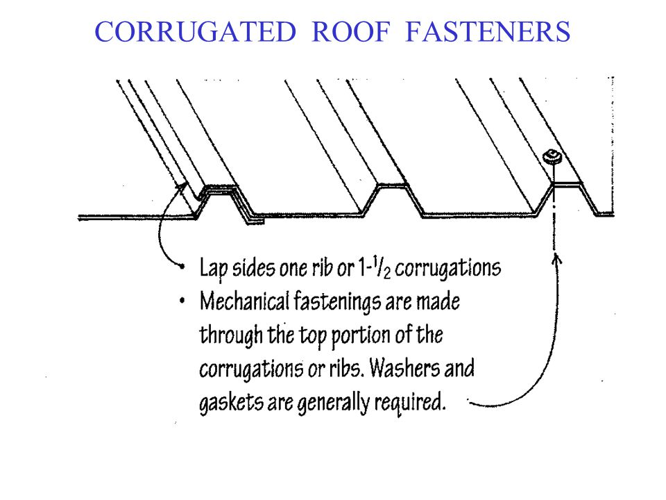CORRUGATED ROOF FASTENERS