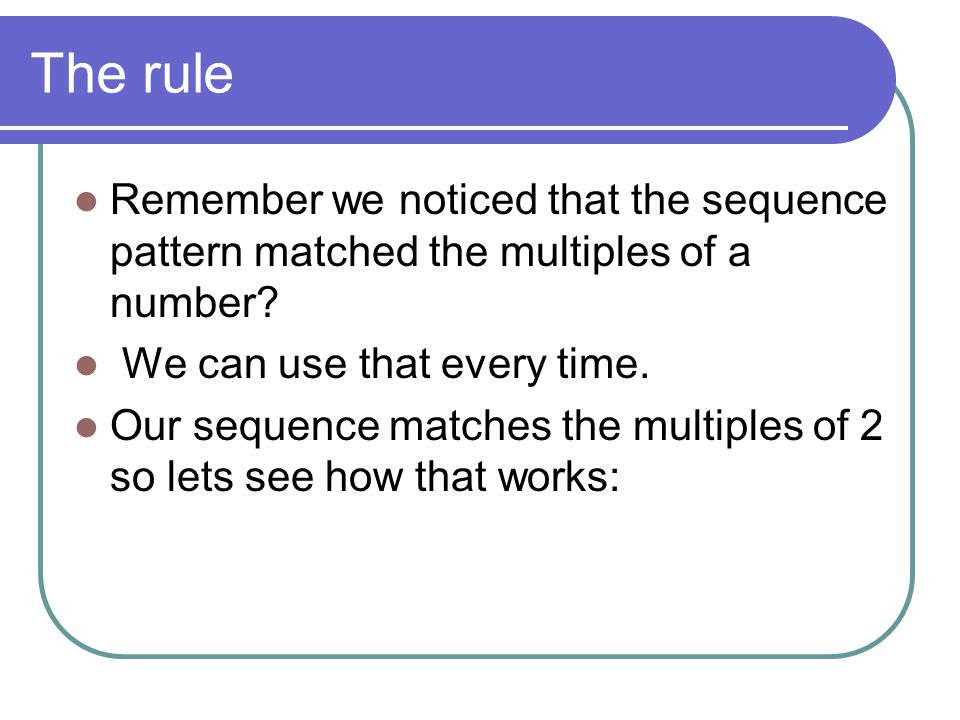 Pattern table Term12345 No of Tiles 357911