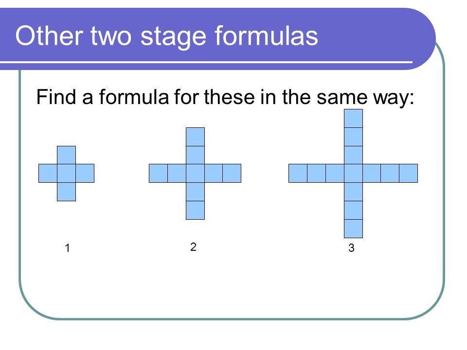 The algebraic formula t = 2n + 1 Remember: no multiplication sign. Worksheet 2 ends