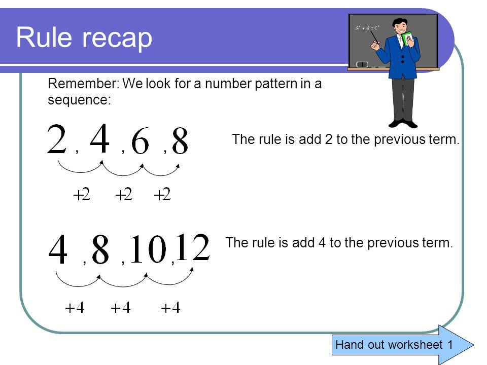 Patterns and Algebraic rules